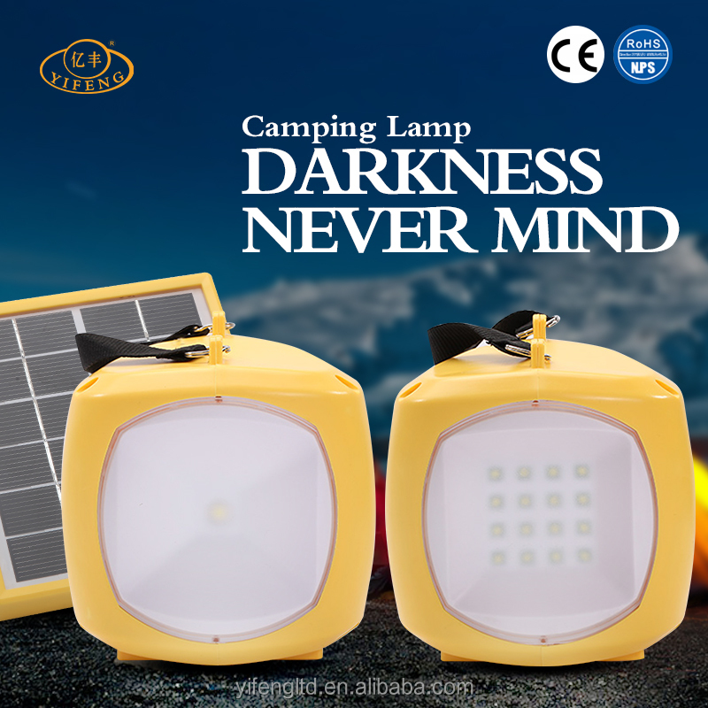 YiFeng YF-168 Multifunctional Rechargeable Camping Lantern, Ultra Bright Solar Powered Lantern