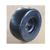 13 x6.50-6 flat free caster rubber tire with smooth tread for zero turn radius commercial mowers