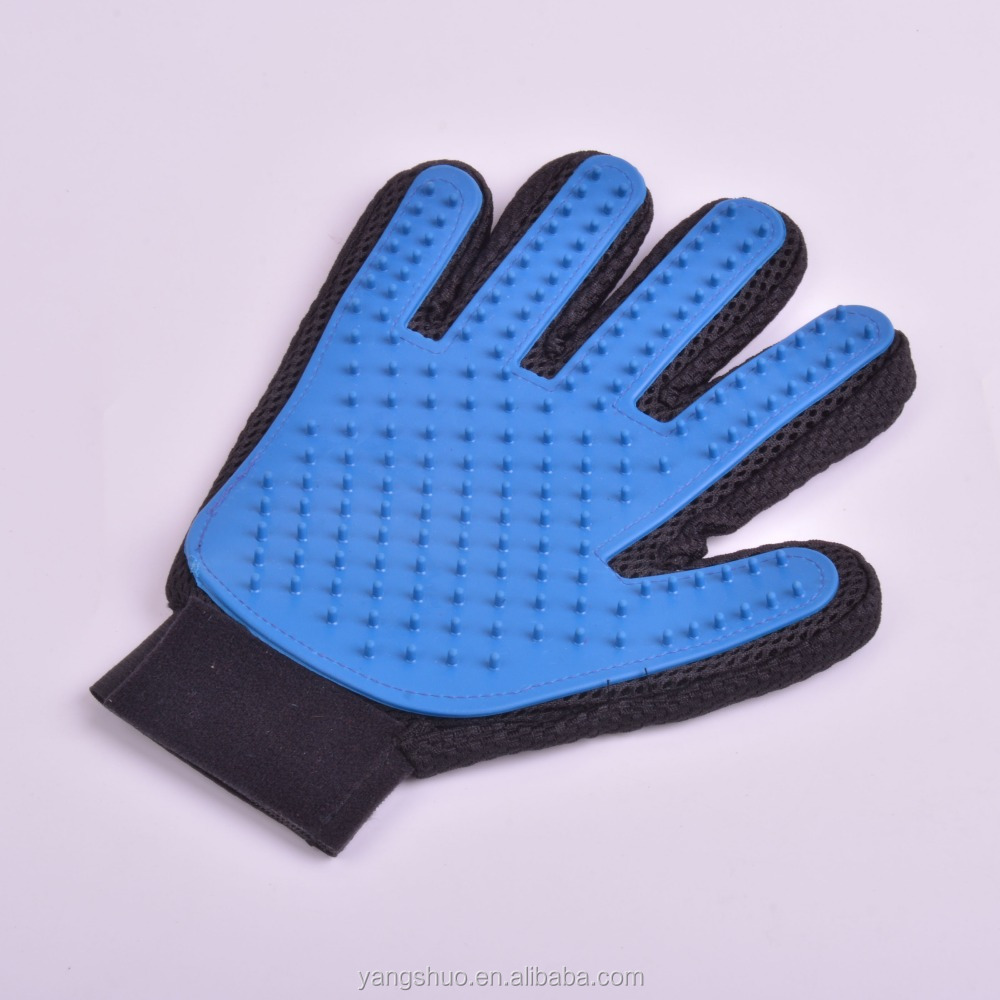 High quality five finger pet deshedding and grooming glove wholesale