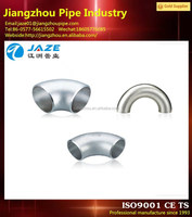 stainless steel pipe fitting 22.5 degree elbow