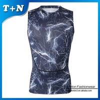 fitness gym wear sublimated sleeveless rush guard