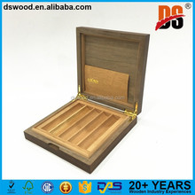 Christmas Promotion Cigar Gift Box Laser Carving Wood Cigar Humidor