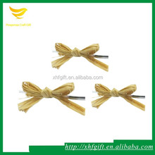 Natural raffia bow with wire for lollipop decoration