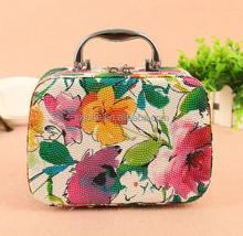 Hot sale cosmetic storage box PU leather beauty cosmetic case