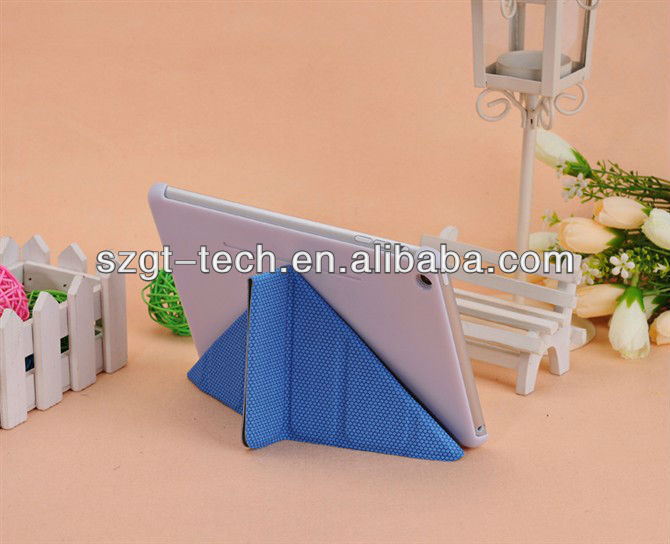 New design basketball grain PU leather case for iPad mini with stand