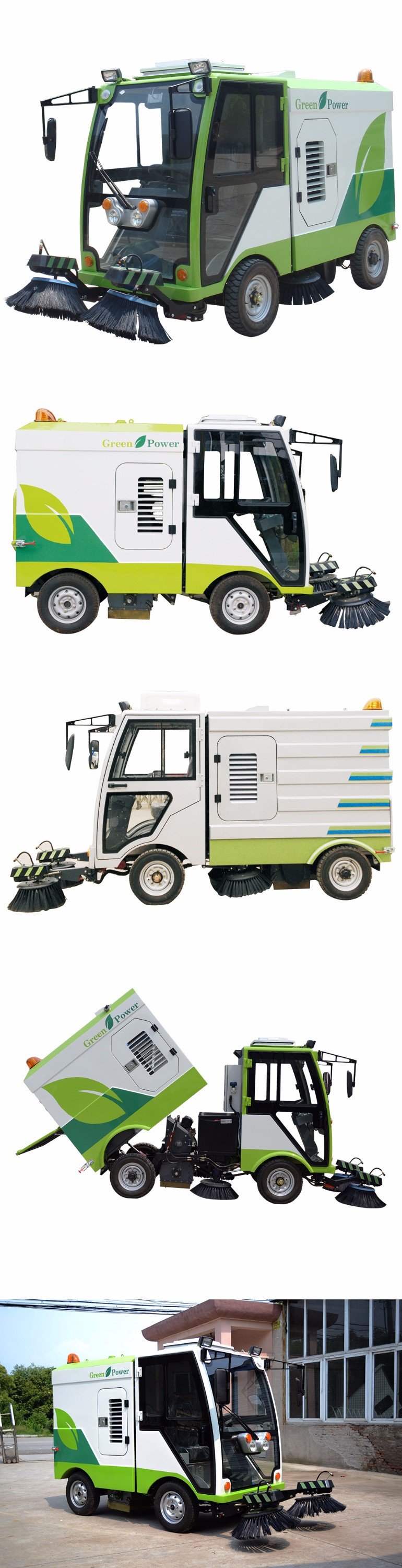 DYNABike powerful economic green Electric Road Sweeper for sale