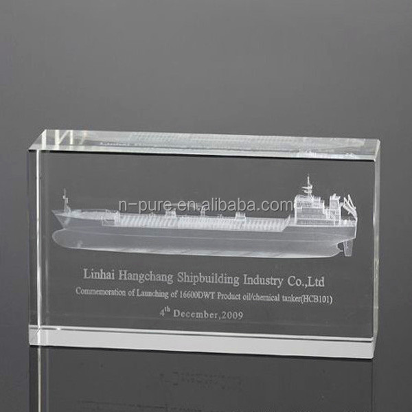 3d crystal laser engraving gifts laser etched glass cube,3D Laser Crystal Cube
