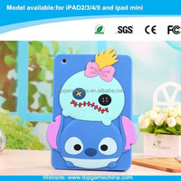 minion 3d silicone case for tablet pc iPad 5 /iPad air