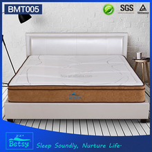 OEM durable queen mattress pad 28cm with relaxing pocket spring knitted fabric and memory foam layer
