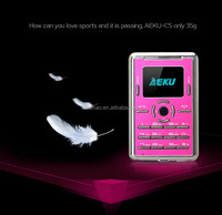 DIHAO Aeku C5 small slim size mobile phones &1.0 inch 2G GSM latest slim bar mobile phones Unlocked