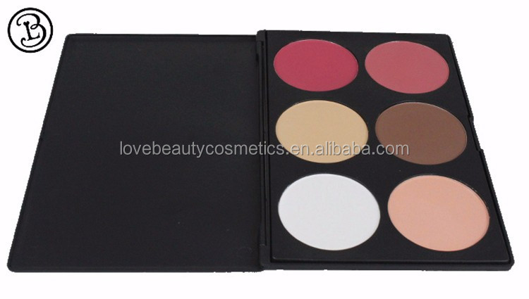 Customized Logo Fashion 6 Colors blusher palette