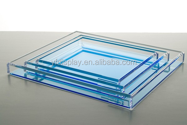 Tranlucent Color Acrylic Serving Fruit Tray