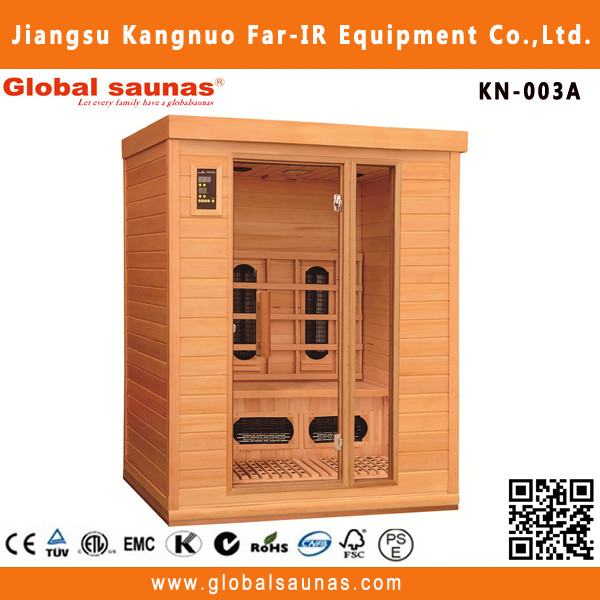 High Fashion 3 Persons Outdoor Sauna And Steam Combined Room
