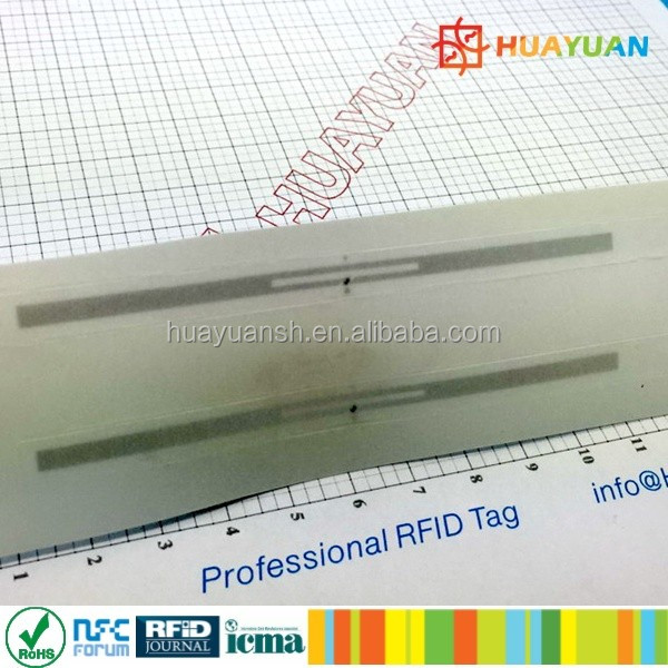 ISO18000-C EPC GEN 2 Alien 9662 UHF label for rfid library management system
