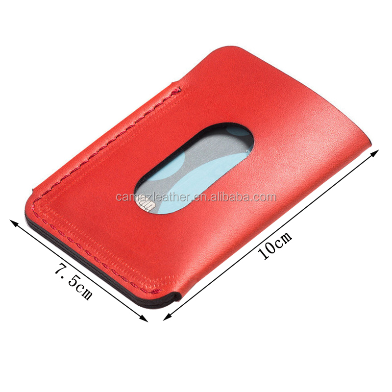 Custom RFID blocking Credit card holder RFID protect leather money clip ID card