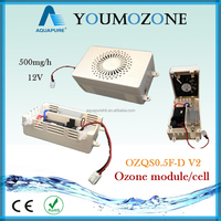 12V High performance corona discharge ozone generator for water treatment with cooling fan