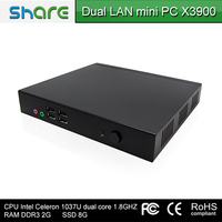 New arrival Dual core MINI PC X3900 , support HDMI and WIFI ,support 3G,with two LAN port