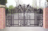2013 Top-selling beautiful hand forged iron gates design