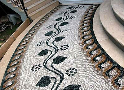 garden decorative polished Pebble Stone Walkway