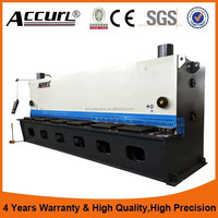 4*2500 guillotine shearing machine metal sheet cutter with safety light curtain