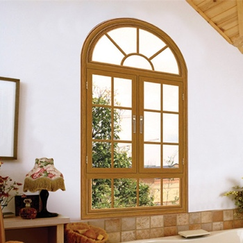 Europe designed  aluminum arch casement window