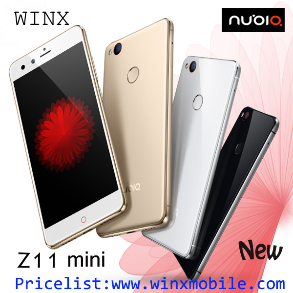 New! ZTE nubia z11 mini 3GB RAM 64GB ROM dual sim mobile phone 4g black/white/gold