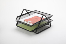 high quality 2 tier/2 layer metal mesh document tray/desk tray/file tray B82002
