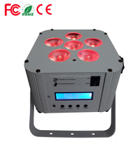 Good quality hot selling wireless dmx led flat par 6*15w 6 in 1 battery powered