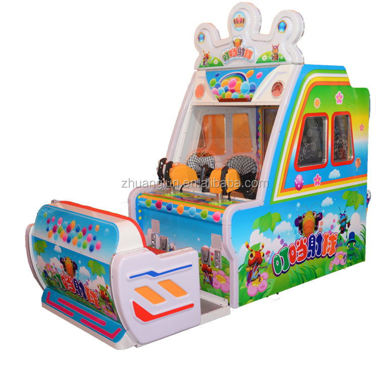 2016 high quality shoot ball games kids play arcade machine redemption game