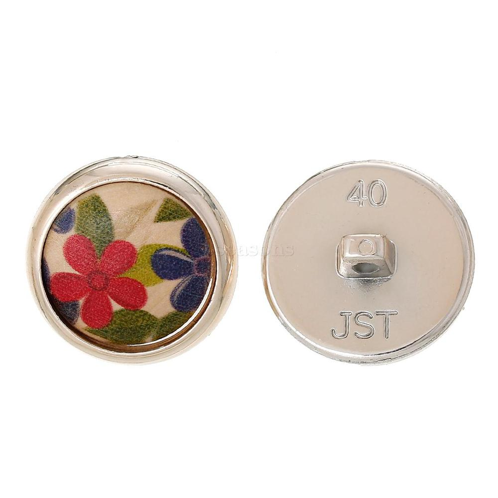 China 25mm Flower Round Single Hole Wood Button in Bulk