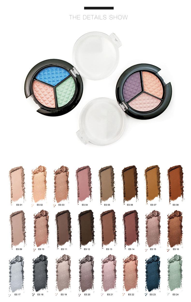 CC30143-1 Single color eyeshadow round eyeshadow palette private label