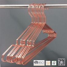 100ps/box Rose Gold Copper Metal Laundry wire coat hanger for cloth