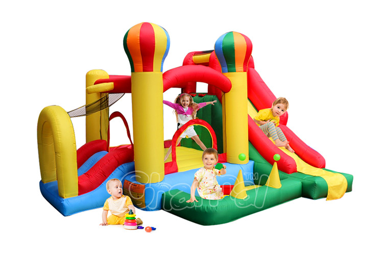 2017 new arrival inflatable ballon bouncer combo for sale, home use inflatable nylon jumper boucer slide