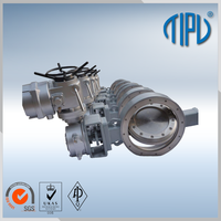 motorized blowdown butterfly valve with pull handle