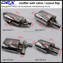 racing exhaust system performance electronic vacuum valved muffler pipe