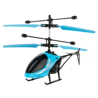 2017 The cheapest Utoghter 69202 2CH Infrared Sensor Mini Helicopter with LED Light(Blue)