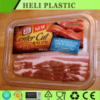 Custom packaging wholesale PET frozen meat packing trays