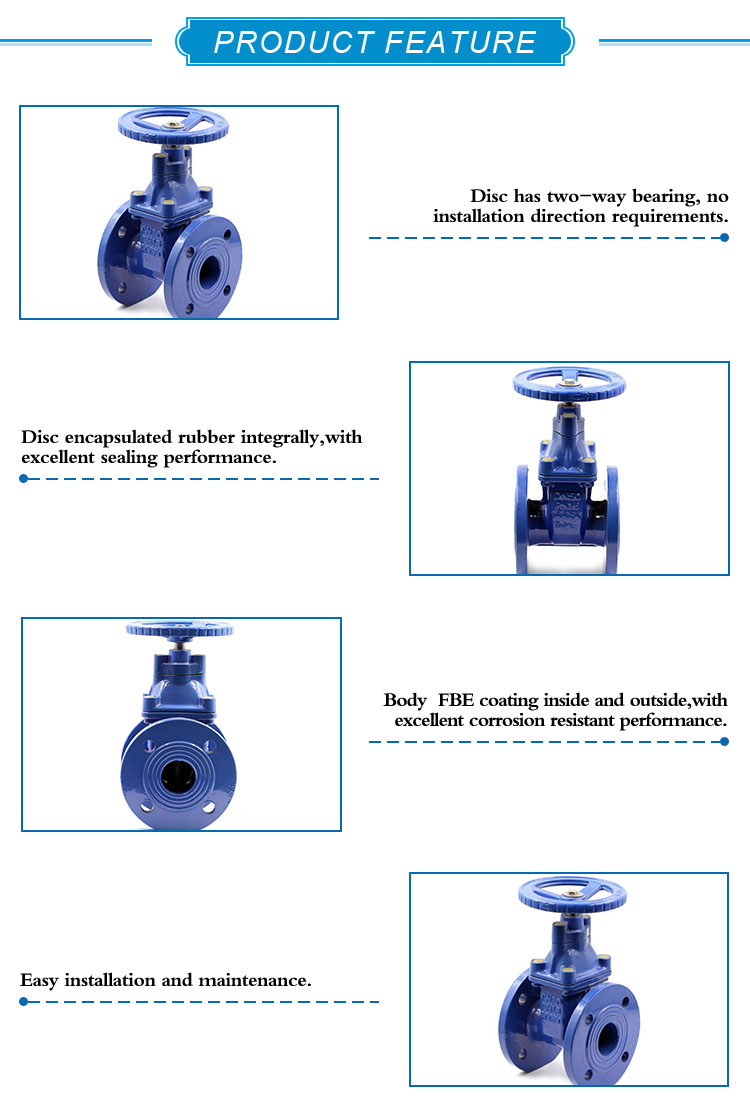 KEFA 12 inch ductile iron motor operated gate valve