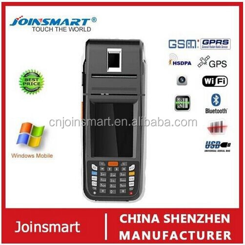 rugged date collecting moblie pda phone , industrial pda , barcode, scanner with thermal printer and fingerprint