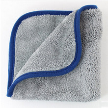 "16""x16"" Microfiber Car Cleaning Towels Ultra Thick Buffing Cloths Absorbent Car Drying Polish Auto Detailing 1000gsm Towel"