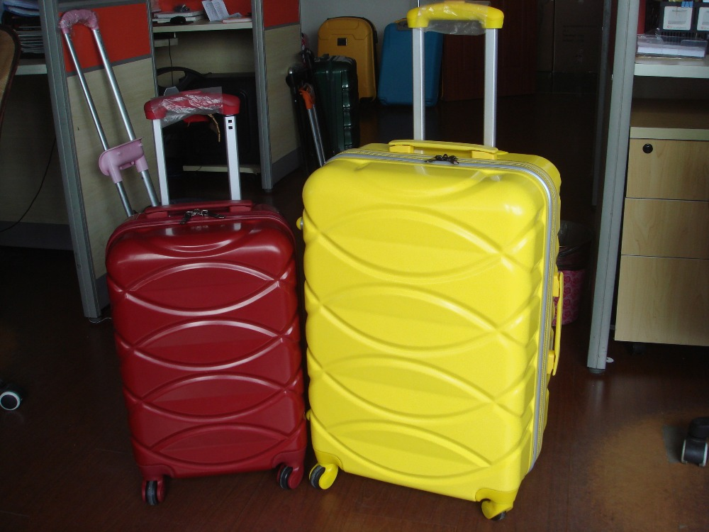 Abs PC rolling suitcase luggage, aluminum box