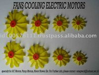 Electric Motors Yellow Plastic Motorcycle Cooling Fan
