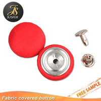 Custom Fabric Covered Button With Flatback