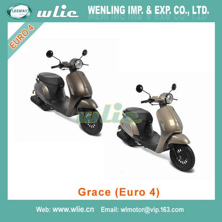 Hot Sale vespa vscooter vintage scooter style Motor Scooter Gas Moped Grace 50cc (EEC Euro 4)