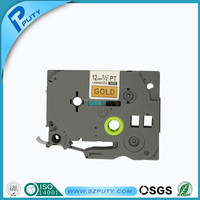 Compatible TZ-831 TZe-831 TZe831 P-touch TZ tape cartridge(Black on gold, 12mm*8m), Used for P-touch labeling machines