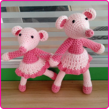 Handmade custom crochet knitted stuffed animal toys mouse stuffed toys
