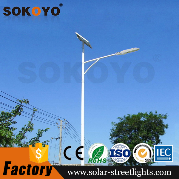 China famous brand top sale solar led street light with hot zinc pole