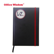 New premium stationery paper hardcover leather school custom notebook