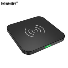Promotional Smooth ABS ECO friendly cell phone wireless charger without cable charging