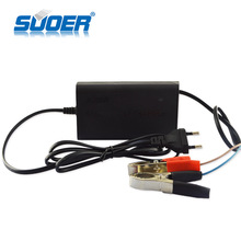 Suoer Smart Fan three-phase charging 12V 5A Universal Battery Charger
